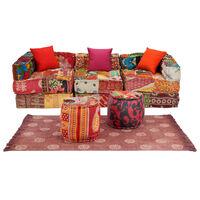 vidaXL modulært sofasæt i 12 dele stof patchwork