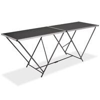 vidaXL klapbord til tapetsering MDF og aluminium 200 x 60 x 78 cm