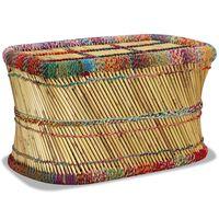 vidaXL sofabord i bambus med chindi-detaljer flerfarvet