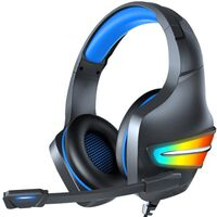 Gaming-hovedtelefoner Rgb 3,5 Mm Med Mikrofon Sort / Blå