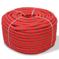 vidaXL marinereb polypropylen 10 mm 250 m rød