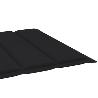 vidaXL hynde til liggestol 200x60x4 cm stof sort