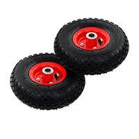 vidaXL sækkevognshjul 2 stk gummi 3.00-4 (245x82)