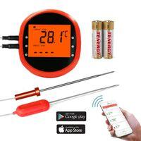 Smart trådløst stegetermometer med 2 sensorer