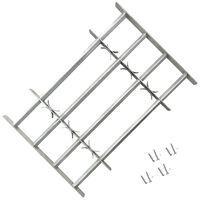 vidaXL justérbart gitter til vinduer m. 4 tværstænger 500-650 mm