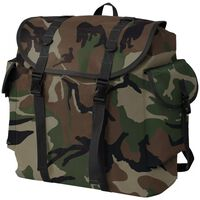 vidaXL Militærinspireret rygsæk 40 l camouflage