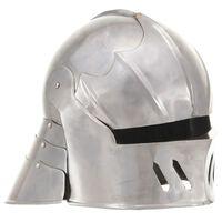 vidaXL middelalderlig ridderhjelm til rollespil antik stål sølvfarvet