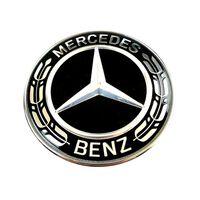 Mercedes-Benz hætte Emblem Sort 57mm