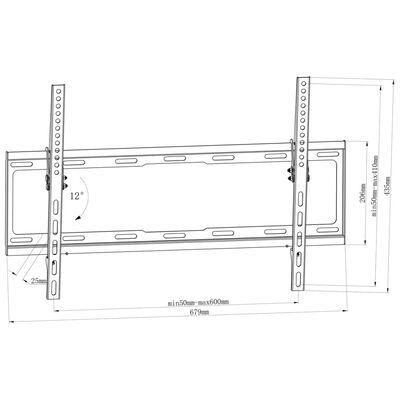"""TV-beslag til skrå vægmontering 600 x 400 mm 32"""" - 70"""""""