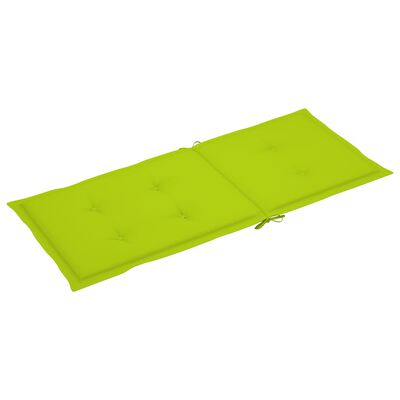 vidaXL hynder til havestole 2 stk. 120x50x4 cm lysegrøn
