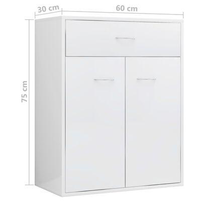 vidaXL skænk 60 x 30 x 75 cm spånplade hvid højglans