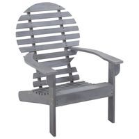 vidaXL Adirondack-stol massivt akacietræ grå