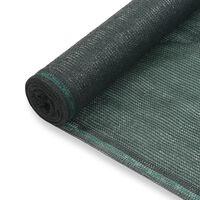 vidaXL tennisskærm HDPE 1,8 x 100 m grøn