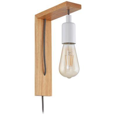 EGLO LED-væglampe Tocopilla træ hvid