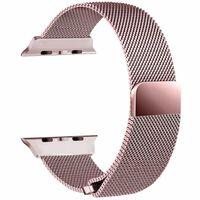 Apple Watch 1/2/3 armbånd - Milanese Loop 38 mm - pink