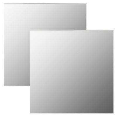 vidaXL vægspejle 2 stk. 60 x 60 cm firkantet glas