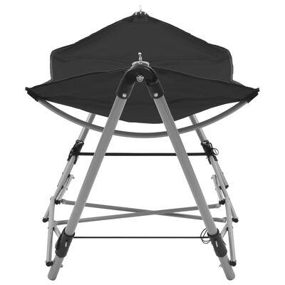 vidaXL hængekøje med foldbart stativ sort