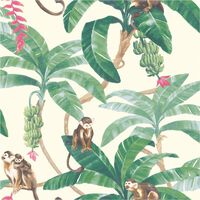 DUTCH WALLCOVERINGS tapet Monkey Puzzle hvid