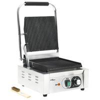 vidaXL rillet panini-grill rustfrit stål 1800 W 32x41x19 cm