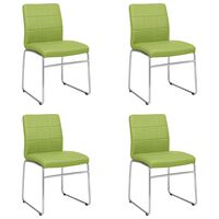 vidaXL spisebordsstole 4 stk. kunstlæder grøn