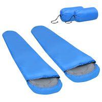 vidaXL sovepose 2 stk. 850 g 15 °C blå