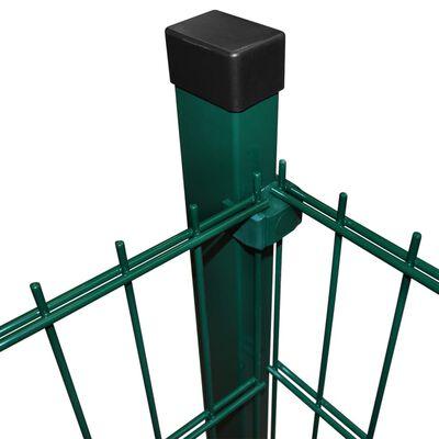vidaXL 2D paneler og pæle til havehegn, 2.008x1.230 mm, 38 m, grønne