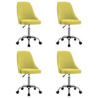 vidaXL spisebordsstole 4 stk. stof gul