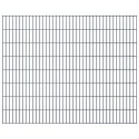 vidaXL havehegnspaneler 2D 2,008x1,63 m 38 m (total længde) grå