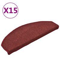 vidaXL trappemåtter 15 stk. 65x24x4 cm rød