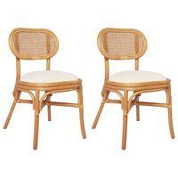 vidaXL spisebordsstole 2 stk. hør