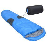 vidaXL sovepose 1400 g -5 °C blå