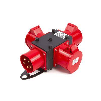 Hbm 400 volt 3-vejs fordelingsblok 16 ampere