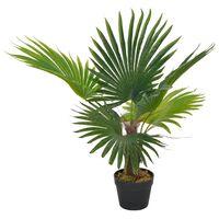 vidaXL kunstig palmeplante med potte 70 cm grøn