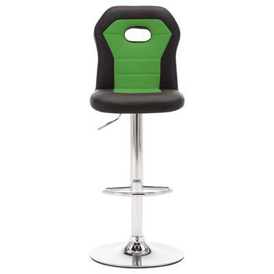 vidaXL barstole 2 stk. kunstlæder grøn
