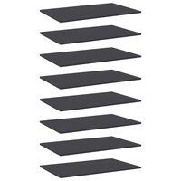 vidaXL boghylder 8 stk. 80x50x1,5 cm spånplade grå