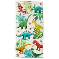 Good Morning badehåndklæde DINOS 75x150 cm flerfarvet