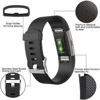 Fitbit Charge 2 armbånd - 3-pack - sort/blå/lilla - S