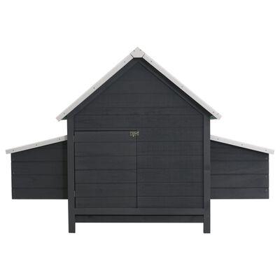 vidaXL hønsehus 157x97x110 cm træ grå