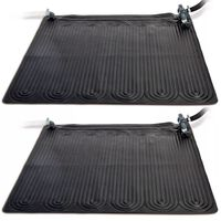 Intex soldrevet varmemåtte 2 stk. PVC 1,2 x 1,2 m sort 28685