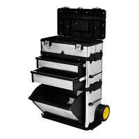 vidaXL værktøjskasse på hjul 3 dele