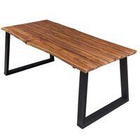 vidaXL spisebord 170x90x75 cm massivt akacietræ