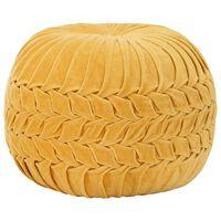 vidaXL puf bomuldsfløjl smock-design 40 x 30 cm gul