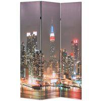 vidaXL foldbar rumdeler 120 x 170 cm New York by Night