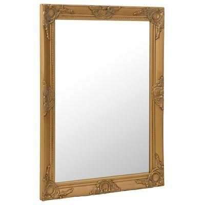vidaXL vægspejl barokstil 60x80 cm guldfarvet