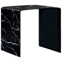 vidaXL sofabord  50 x 50 x 45 cm sort marmor hærdet glas