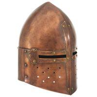 vidaXL middelalderlig ridderhjelm til rollespil antik stål kobberfarvet