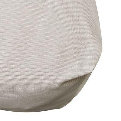 vidaXL polstret sædehynde 120 x 80 x 10 cm sandfarvet