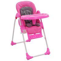vidaXL højstol pink og grå