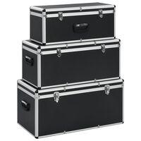 vidaXL opbevaringskufferter 3 stk. aluminium sort