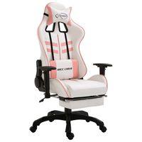 vidaXL gamingstol med fodstøtte kunstlæder pink